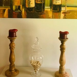 Wooden Candle Stick
